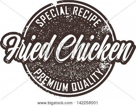 Vintage Fried Chicken Restaurant Sign