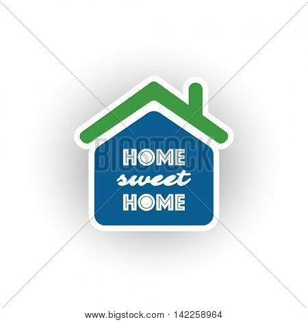 Home, Sweet Home Typography, Logo Design - Green And Blue