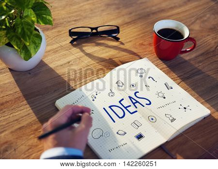 Ideas Lightbulb Musicnote Speech Icon Concept