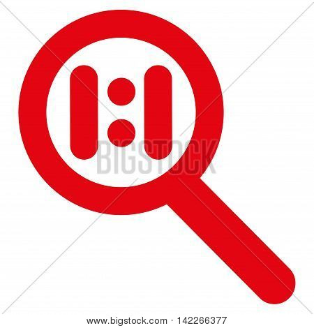 Zoom Actual Scale vector icon. Style is linear flat icon symbol, red color, white background.
