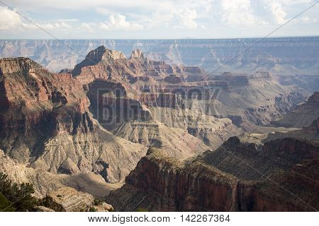 View of the Grand Canyon from the North Rim National Park