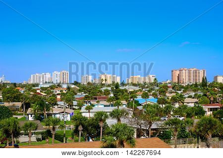 Daytona Beach in Florida aerial at Port Orange of USA