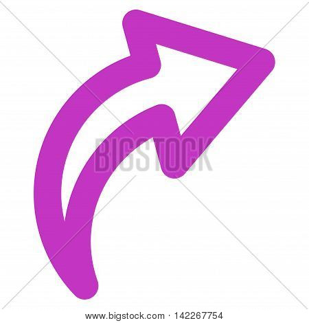 Redo vector icon. Style is linear flat icon symbol, violet color, white background.