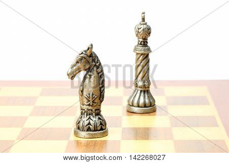 Chess Knight King set gamestrategy king queen bishop knight rook pawn