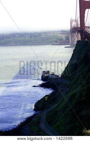 Sf Golden Gate Cloudy