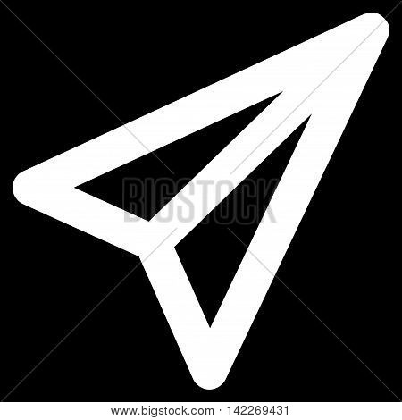 Freelance glyph icon. Style is stroke flat icon symbol, white color, black background.