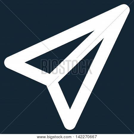 Freelance glyph icon. Style is stroke flat icon symbol, white color, dark blue background.