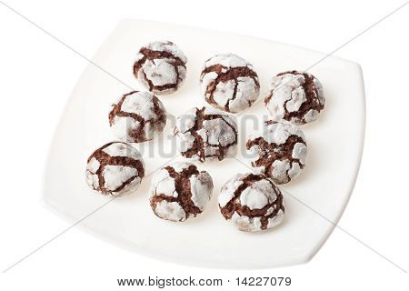 Chocolate Crinkles On A Plate