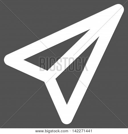 Freelance glyph icon. Style is contour flat icon symbol, white color, gray background.