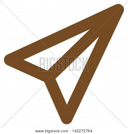 Freelance glyph icon. Style is outline flat icon symbol, brown color, white background.