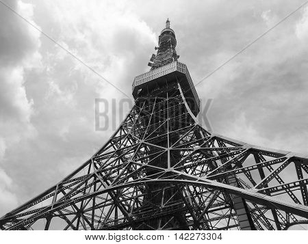 Tokyo Tower, Japan / black and white