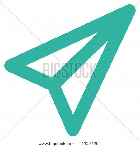 Freelance glyph icon. Style is linear flat icon symbol, cyan color, white background.