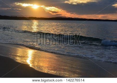 Sunset over Noosa Beach in Queensland Australia