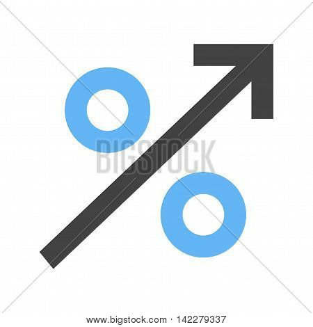 Interest, business, percent icon vector image.Can also be used for finances trade. Suitable for use on web apps, mobile apps and print media.