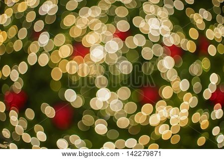 Beauty Light Christmas Bokeh Background