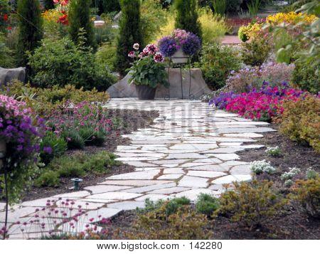 Trajeto do jardim