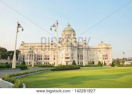 The Ananta Samakhom Throne Hall in Thai Royal Dusit Palace, Bangkok, Thailand.