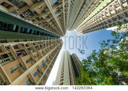 High rise building from low angle