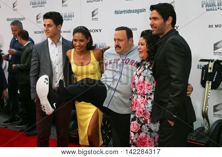 NEW YORK-APR 11: (L-R) David Henrie, Daniella Alonso, Kevin James, Raini Rodriguez and Eduardo Verastegui attend the premiere of