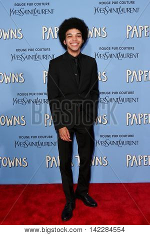 NEW YORK-JUL 21: Actor Justice Smith attends the