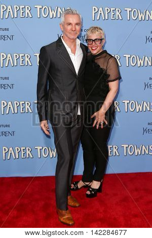 NEW YORK-JUL 21: Catherine Martin (R) and Baz Luhrmann attend the