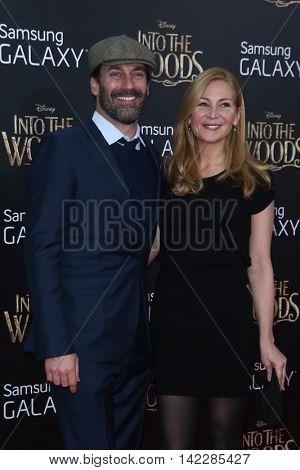 NEW YORK-DEC 8: Actor Jon Hamm (L) and Jennifer Westfeldt attend the