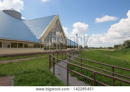 Turov, Belarus - August 7, 2016: Historical And Archaeological Complex Of 12Th Century Temple. The A