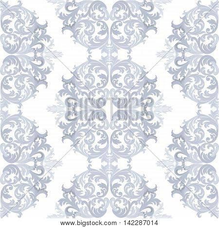 Vintage round Baroque ornament pattern. Vector Luxury damask decor. Royal Victorian texture for textile fabric. Taupe color