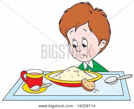 Boy at dinner