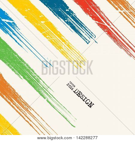 Business design templates. Artwork with Color Strip Background. Abstract Modern Decoration. Painting. Wallpaper with empty space for your text. Grunge Line design. Vector illustration.