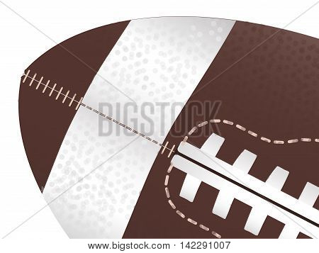 A typical american type foorball over a white background