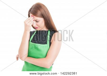 Stressed Employee Suffering From Head Ache