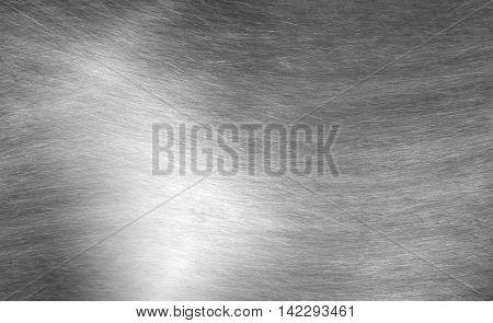 Sheet Metal Silver Solid Black Background