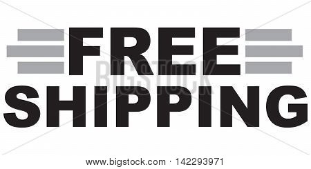 Free shipping text logistics business industry shipment transportation