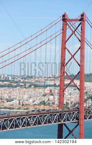 Ponte 25 De Abril In Lisbon, Portugal