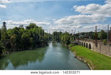 river of Pau in the french pyrenees