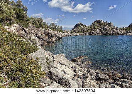 Scenic bay near Marmaris, Turkey on a sunny day