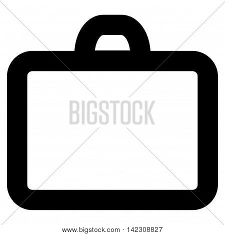 Case vector icon. Style is linear flat icon symbol, black color, white background.