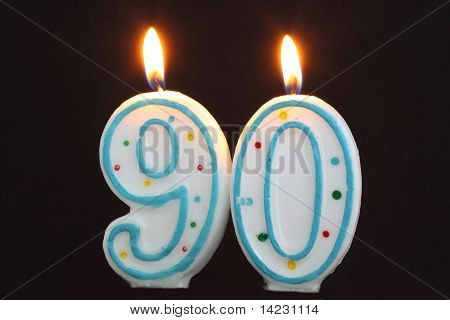 Birthday Candles Ninety