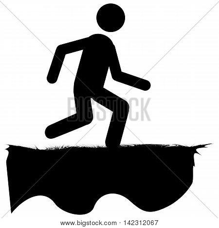Running Human Icon  jogging men symbol people vector sign
