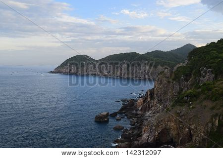 Pristine Sea At Dai Lanh Cape, Mui Dien, Phu Yen Province, Easternmost Of Viet Nam