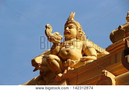 Krishna. Architectural element. Hindu Temple. Religion hinduism