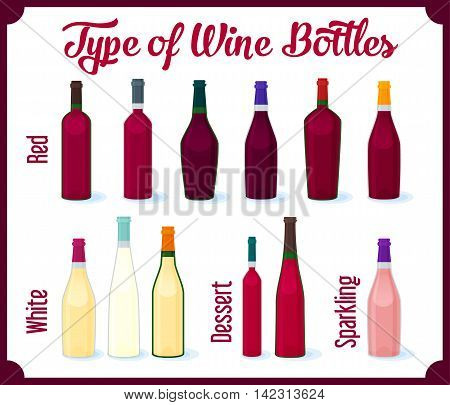 Different Kinds of Wine Bottles Without Labels