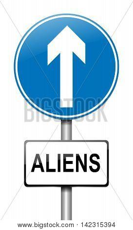 Aliens Sign Concept.