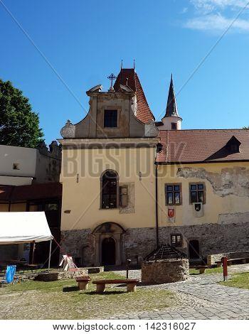 KEZMAROK SLOVAKIA - JULY 08 2016: The palace in old castle of Kezmarok castle High Tatras Slovakia.
