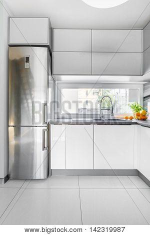 White Villa Kitchen Idea