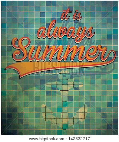 Summer slogans hand drawn calligraphy. Summer holidays and beach vacation vector illustration