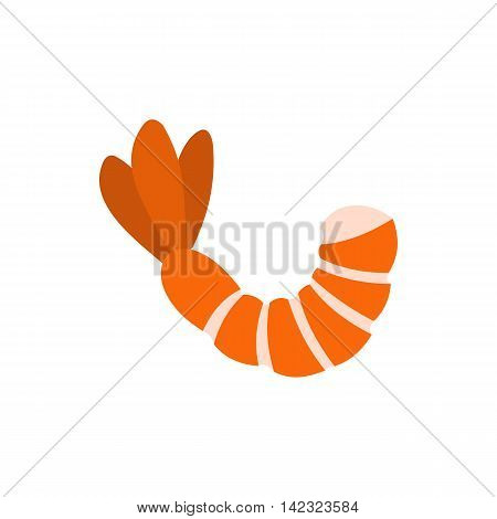 Shrimp icon in flat style on a white background