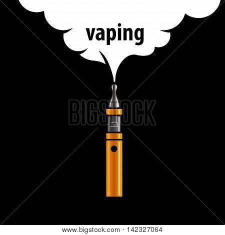 logo design pattern of the electronic cigarette. Vector illustration