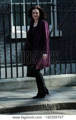 LONDON, UK, MAY 3, 2016: Theresa Villiers seen in Downing Street in London